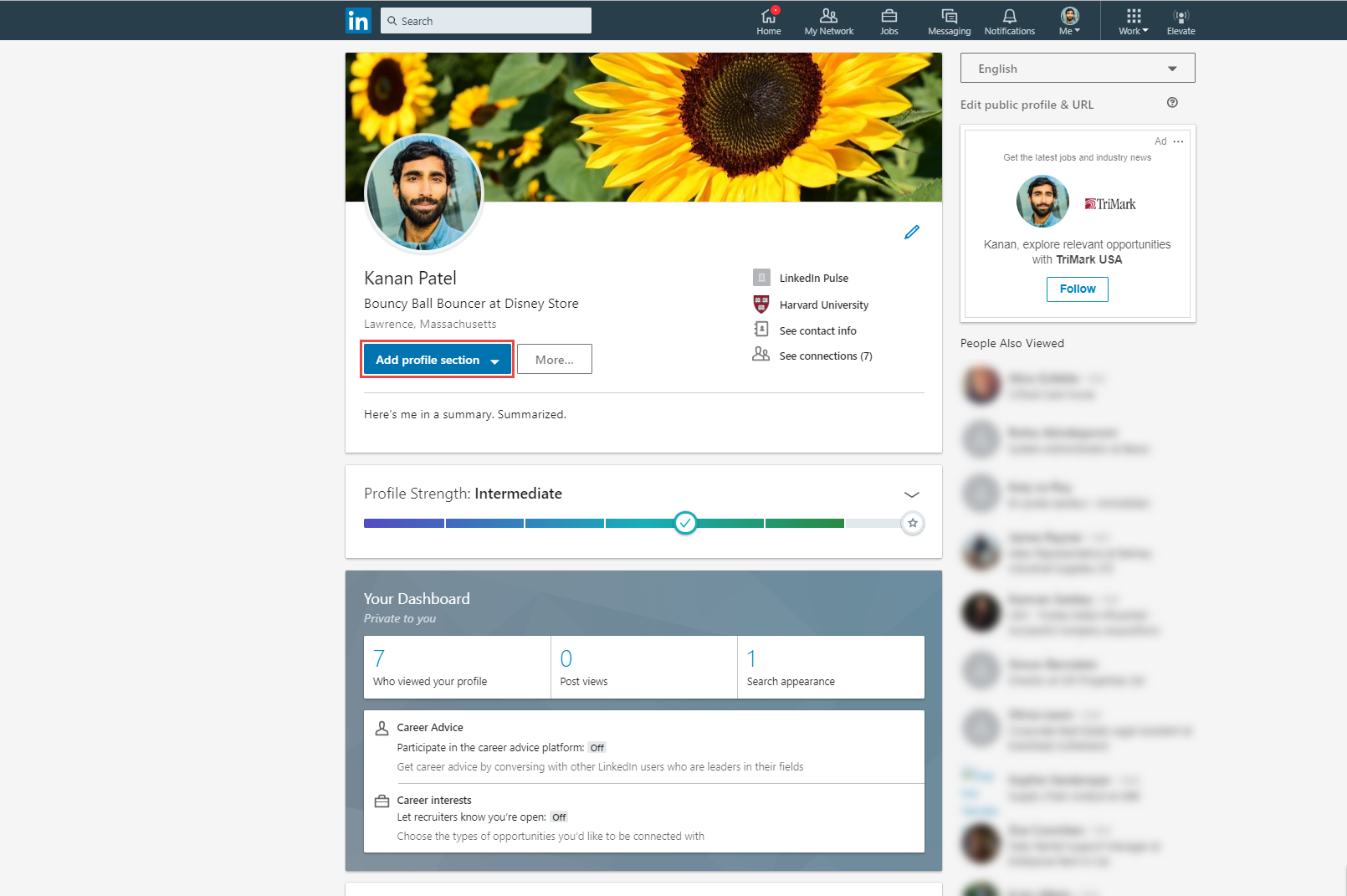 Adding Sections To Your Profile Linkedin Help