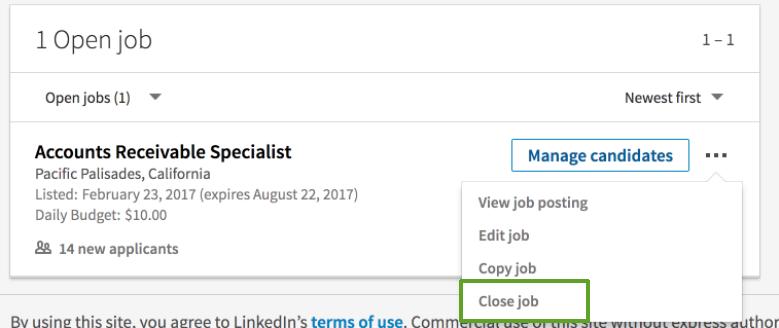 closing job posts linkedin help rh linkedin com manual linkedin pdf español manual de uso linkedin