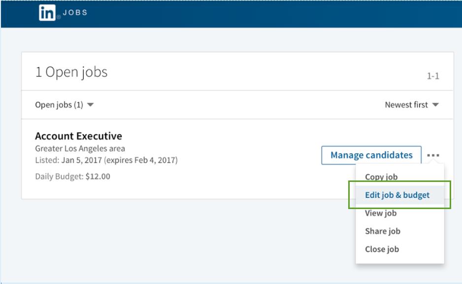 Editing Your Job Posting – Web Editor Job Description