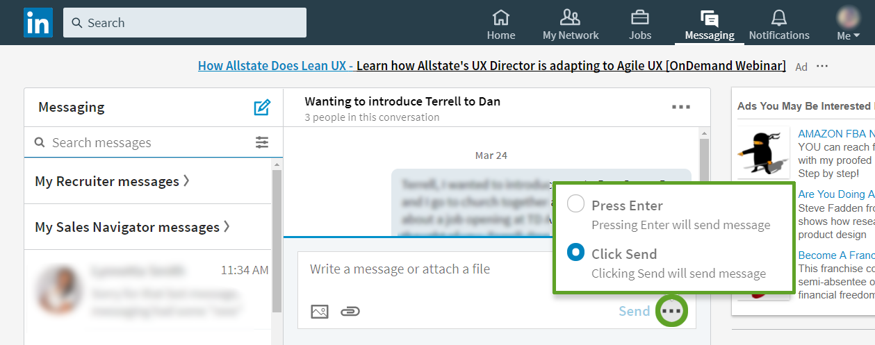 Attaching Files To Messages Linkedin Help